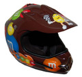 DOT MotoX Motocross Kyle Busch M&amp;M Brown Motorcycle Helmet