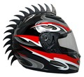 Saw Blade Warhawk on Full Face Motorcycle Helmet