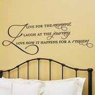 Live For the Moment wall decal, expressions wall quotes