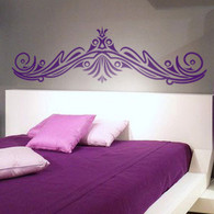 Headboard Wall Decals, decorative ornate wall decals