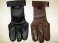 Twigmaster leather shooting glove top side