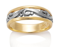 Mens Scroll Ring David Virtue Jewelry