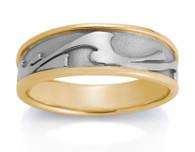 Mens Wave Ring David Virtue Jewelry