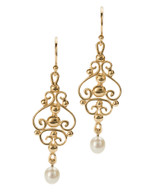 E12 Scroll Earrings David Virtue Jewelry