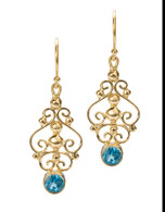 E12S Scroll Earrings David Virtue Jewelry