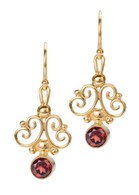 E13S Scroll Earrings David Virtue Jewelry