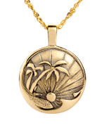 Swaying Palms Warm Sands Ocean Wave Pendant David Virtue Jewelry