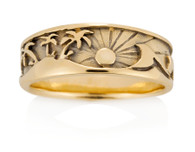 Mens Palms Wave Ring David Virtue Jewelry