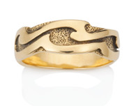 Mens Wavy Wave Ring David Virtue Jewelry