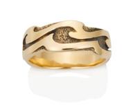 Womens Wavy Wave Ring David Virtue Jewelry