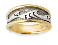 Mens Wide Japanese Wave Ring David Virtue Jewelry