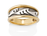 Womens Wide Japanese Wave Ring David Virtue Jewelry
