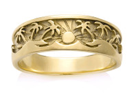 138G Men's Tropical Palm Tree Ring