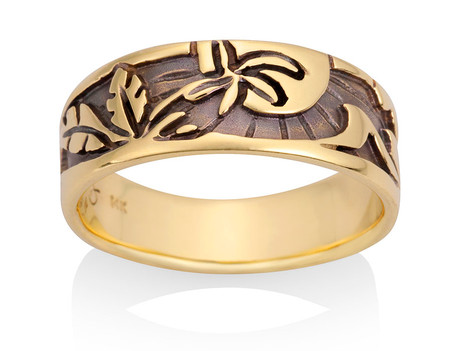 Mens Palm Sun Ring David Virtue Jewelry