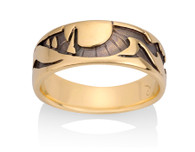 Womens Mountain Tree Sun Ring David Virtue Jewelry