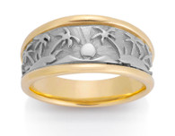 Womens Tropical Palm Tree Ring David Virtue Jewelry