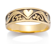 Mens Heart Ring David Virtue Jewelry