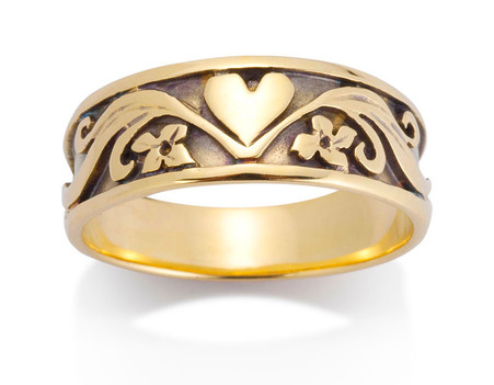 Womens Heart Ring David Virtue Jewelry