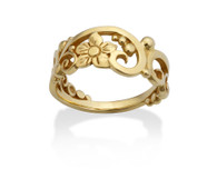 Filigree and Flower Ring David Virtue Jewelry