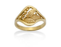 195 - Filigree & Leaf Signet Ring David Virtue Jewelry