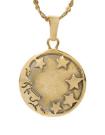 Moon Pendant with Stars David Virtue Jewelry