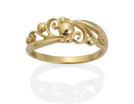 239-Ball Filigree Ring Yellow David Virtue Jewelry
