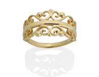 237 - Tiara Filigree Ring shown in 14k Yellow Gold David Virtue Jewelry