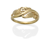 David Virtue Jewelry-28R Leaf Filigree Ring
