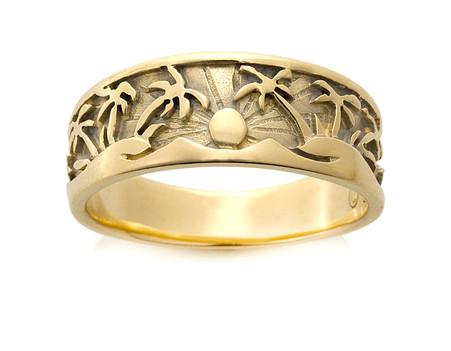 womens tropical palm tree ring david virtue jewelry