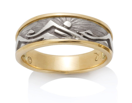 Mens Western Mountain Ring David Virtue Jewelry