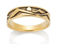 Mens Narrow Mountain Ring David Virtue Jewelry