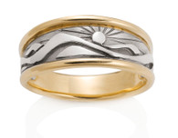 Mens Wide Mountain Ring David Virtue Jewelry