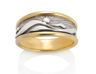 Womens Wide Mountain Ring David Virtue Jewelry