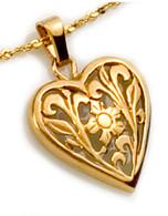 Openwork Floral Heart Pendant David Virtue Jewelry
