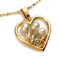 Heart Pearls Pendant David Virtue Jewelry