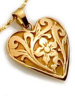 Floral Heart Pendant David Virtue Jewelry