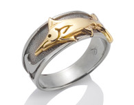 Mens Wave Marlin Ring David Virtue Jewelry