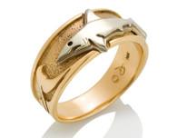 Mens Wave Shark Ring David Virtue Jewelry