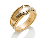 Womens Wave Shark Ring David Virtue Jewelry
