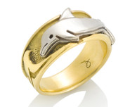 Mens Wave Dolphin Ring David Virtue Jewelry