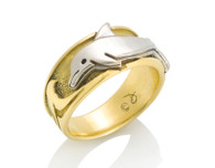 Womens Wave Dolphin Ring David Virtue Jewelry