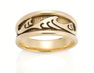 Womens Wide Japanese Wave Ring David Virtue Jewelry