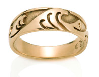 Mens Japanese Wave Ring David Virtue Jewelry