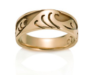 Womens Japanese Wave Ring David Virtue Jewelry