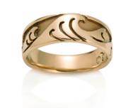 Womens Japanese Wave Ring David Virtue Jewelry