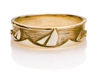 Mens Sails Sea Ring David Virtue Jewelry