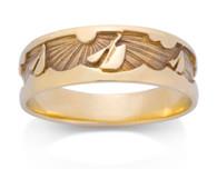 Mens Sailing Sun Sea Ring David Virtue Jewelry