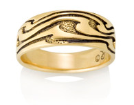 Mens Wide Wave Ring David Virtue Jewelry