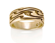 Womens Wide Wave Ring David Virtue Jewelry