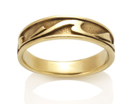 Mens Narrow Wave Ring David Virtue Jewelry